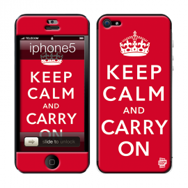 Skincover® iPhone 5 / 5S / 5SE - Keep Calm Red