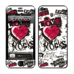 Skincover® iPhone 5 / 5S / 5SE - Love & Rock