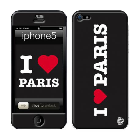 Skincover® iPhone 5 / 5S / 5SE - I Love Paris Black