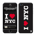 Skincover® iPhone 5 / 5S / 5SE - I Love NYC Black