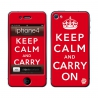Skincover® iPhone 4/4S - Keep Calm Red