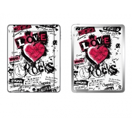 Skincover® Ipad 2 / Nouvel Ipad - Love & Rock