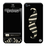 Skincover® iPhone 5 / 5S / 5SE - Moustache Zebre Black