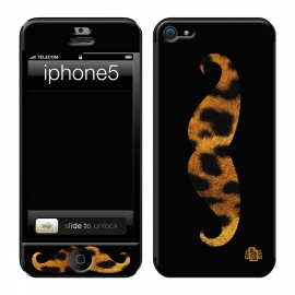 Skincover® iPhone 5 / 5S / 5SE - Leo Stache