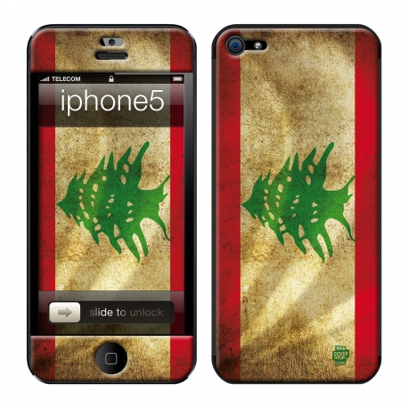 Skincover® iPhone 5 / 5S / 5SE - Liban Flag