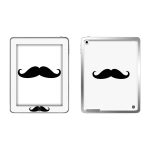 Skincover® Ipad 2 / Nouvel Ipad - Moustache B&W