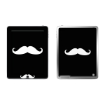 Skincover® Ipad 2 / Nouvel Ipad - Moustache W&B