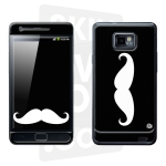 Skincover® Galaxy S2 - Moustache W&B