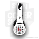 Skincover® Beats by Dre - Studio - Moustache B&W