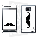 Skincover® Galaxy S2 - Moustache B&W