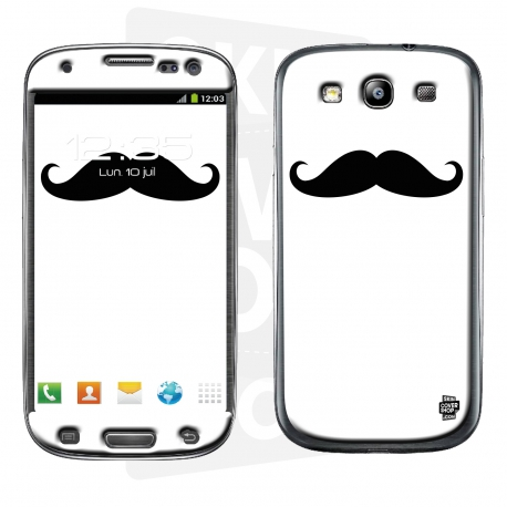 Skincover® Galaxy S3 - Moustache B&W
