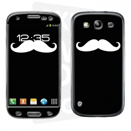 Skincover® Galaxy S3 - Moustache W&B