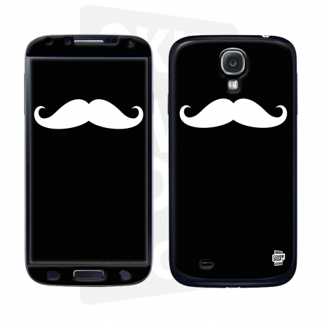 Skincover® Galaxy S4 - Moustache W&B