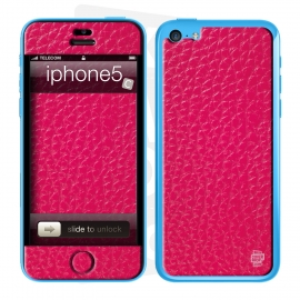 Skincover® iPhone 5C - Cuir Pink