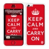 Skincover® iPhone 5C - Keep Calm Red