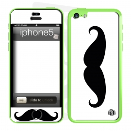 Skincover® iPhone 5C - Moustache B&W