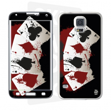 Skincover® Galaxy S5  - 4 Aces