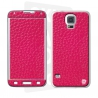 Skincover® Galaxy S5  - Cuir Pink