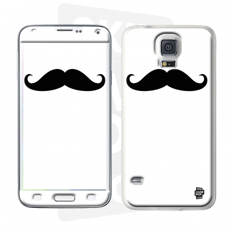 Skincover® Galaxy S5  - Moustache W&B