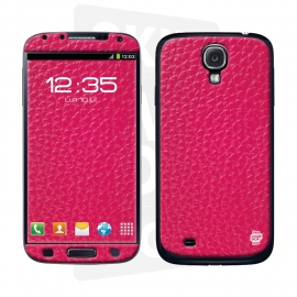 Skincover® Galaxy S4 - Cuir Pink