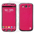 Skincover® Galaxy S3 - Cuir Pink