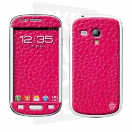 Skincover® Galaxy S3 Mini - Cuir Pink