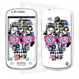 Skincover® Galaxy S3 Mini - Skull & Art