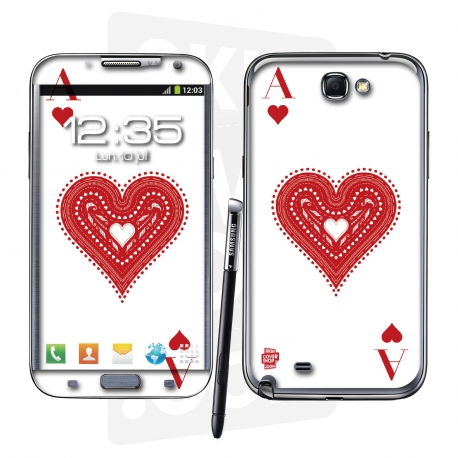Skincover® Galaxy Note 2 - Ace Of Heart