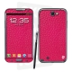Skincover® Galaxy Note 2 - Cuir Pink