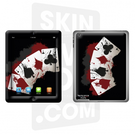 Skincover® Nouvel iPad / iPad 2 - 4 Aces