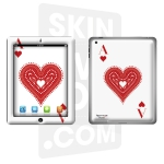 Skincover® Nouvel iPad / iPad 2 - Ace Of Heart
