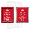 Skincover® Nouvel iPad / iPad 2 - Keep Calm Red