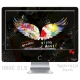 Skincover® iMac 21.5' - Angel Graffity By Paslier