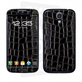 Skincover® Galaxy S4 - Croco Cuir Black