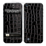 Skincover® iPhone 5 / 5S / 5SE - Croco Cuir Black