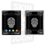 Skincover® Nouvel iPad / iPad 2 - Skull & Flower