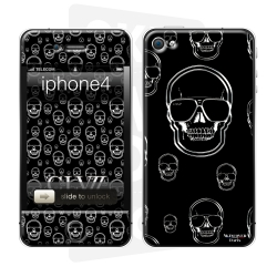 Skincover® iPhone 4/4S - Skull Rain By CLVII