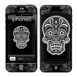 Skincover® iPhone 5 / 5S / 5SE - Skull & Flower