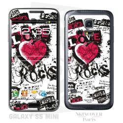 Skincover® Galaxy S5 Mini - Love & Rock