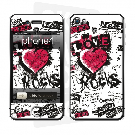 Skincover® iPhone 4/4S - Love & Rock