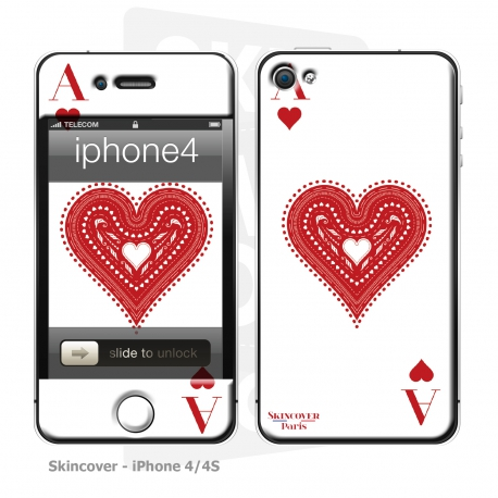 Skincover® iPhone 4/4S - Ace of Heart