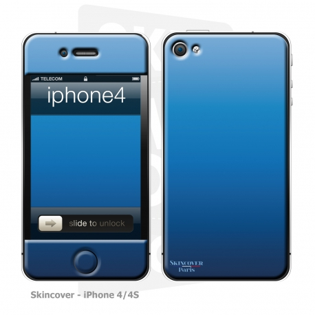 Skincover® iPhone 4/4S - Blue