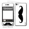 Skincover® iPhone 4/4S - Moustache B&W