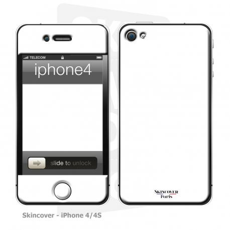 Skincover® iPhone 4/4S - White