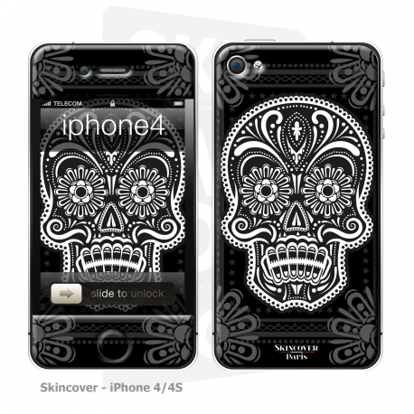 Skincover® iPhone 4/4S - Skull & Flower