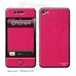 Skincover® iPhone 4/4S - Cuir Pink