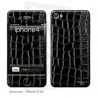 Skincover® iPhone 4/4S - Croco Cuir Black