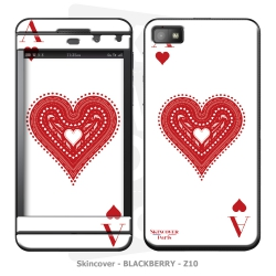 Skincover® Blackberry Z10 - Ace Of Heart
