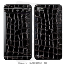 Skincover® Blackberry Z10 - Croco Cuir Black