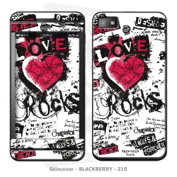 Skincover® Blackberry Z10 - Love & Rock